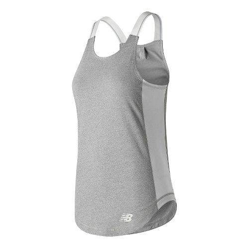 Womens New Balance 247 Sleeveless & Tank Technical Tops - Athletic Grey L