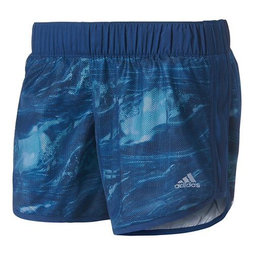 Womens Adidas M10 Energized Recycled Lined Shorts - Mystery Blue M