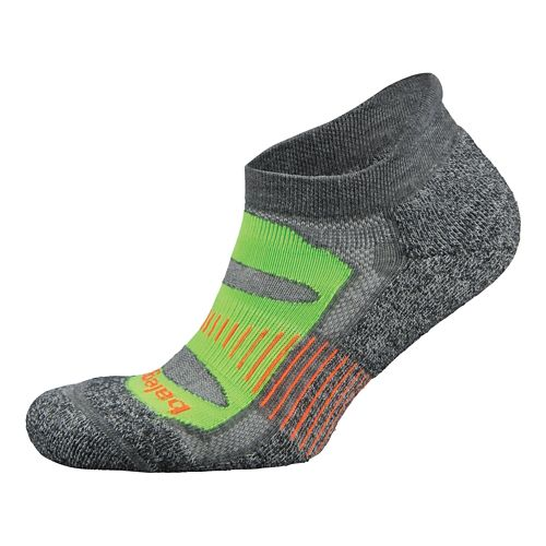 Balega Blister Resist No Show Socks Socks - Charcoal/Lime M