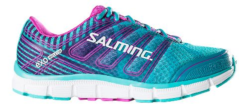 Womens Salming Miles Running Shoe - Turquoise/Pink 7.5