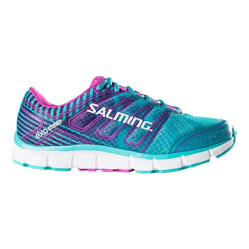 Womens Salming Miles Running Shoe - Turquoise/Pink 5.5