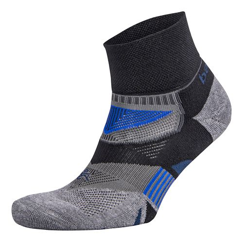Balega Enduro V-Tech Quarter Socks Socks - Black/Grey L