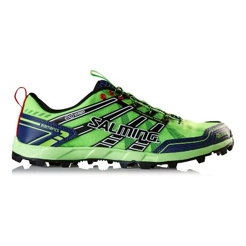 Mens Salming Elements Trail Running Shoe - Green Gecko/Navy 7.5