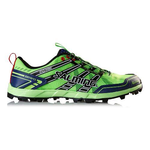 Mens Salming Elements Trail Running Shoe - Green Gecko/Navy 9