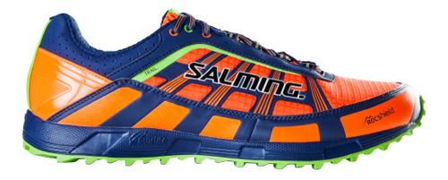 Mens Salming Trail T3 Trail Running Shoe - Orange/Blue 10.5
