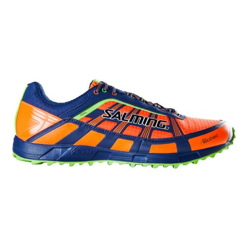 Mens Salming Trail T3 Trail Running Shoe - Orange/Blue 7.5