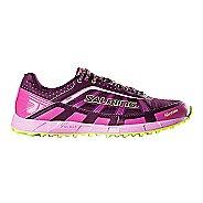 Womens Salming Trail T3 Trail Running Shoe - Dark Orchid/Pink 7.5