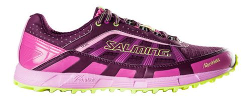 Womens Salming Trail T3 Trail Running Shoe - Dark Orchid/Pink 7.5