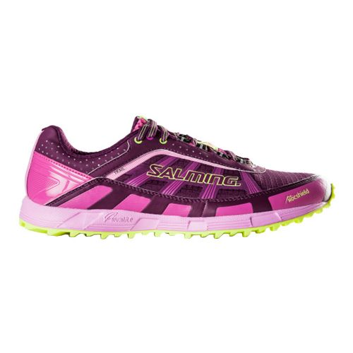 Womens Salming Trail T3 Trail Running Shoe - Dark Orchid/Pink 5.5