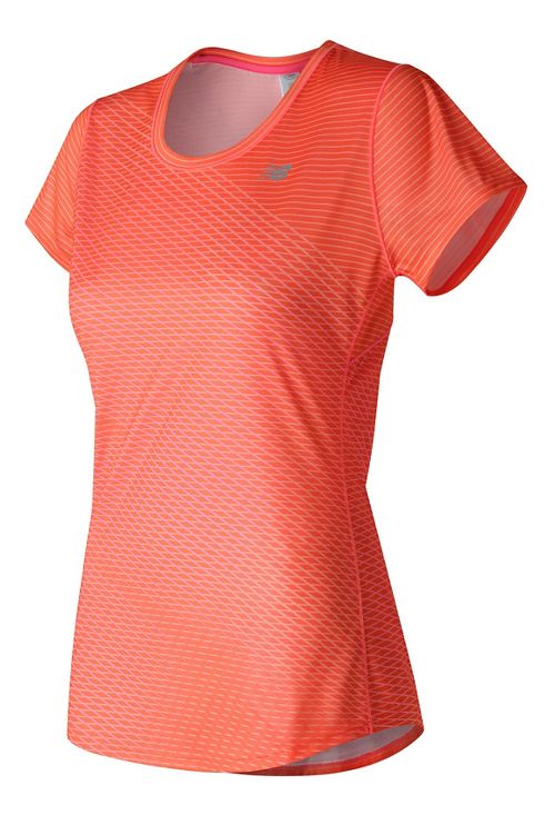 Womens New Balance Accelerate Graphic Short Sleeve Technical Tops - Sunrise Print XL