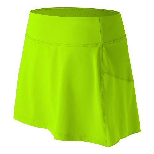 Womens New Balance Casino Skorts Fitness Skirts - Lime Glow XL