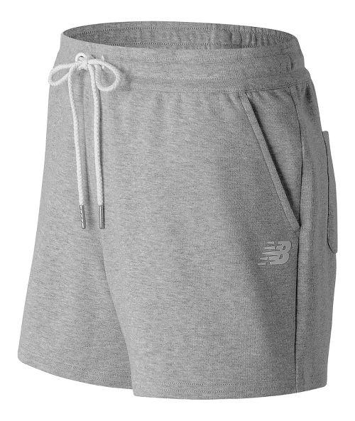 Womens New Balance Classic Fleece Unlined Shorts - Sunrise Glow M