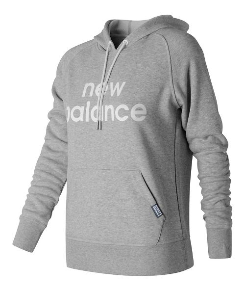 Womens New Balance Classic Pullover Half-Zips & Hoodies Technical Tops - Athletic Grey L
