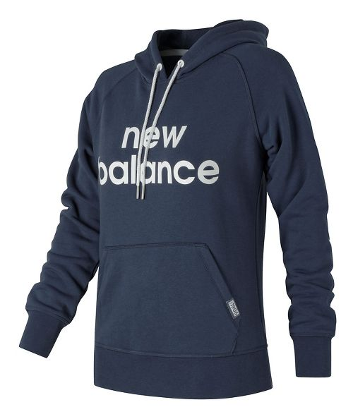 Womens New Balance Classic Pullover Half-Zips & Hoodies Technical Tops - Navy L
