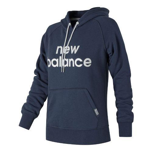 Womens New Balance Classic Pullover Half-Zips & Hoodies Technical Tops - Navy M