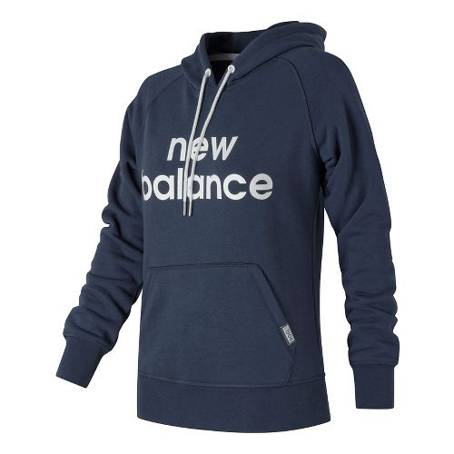 Womens New Balance Classic Pullover Half-Zips & Hoodies Technical Tops - Navy XS