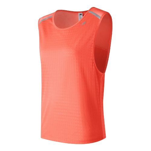 Womens New Balance D2D Run Sleeveless & Tank Technical Tops - Sunrise XS