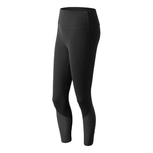 Womens New Balance Elixir Crop Tights - Black XL