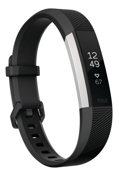 Fitbit Alta HR Fitness Wristband Monitors - Black L