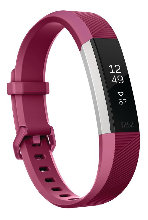 Fitbit Alta HR Fitness Wristband Monitors - Fuchsia L