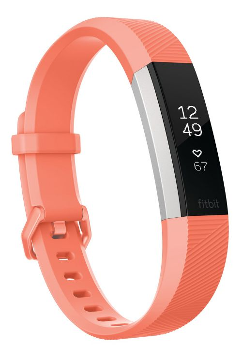 Fitbit Alta HR Fitness Wristband Monitors - Coral S