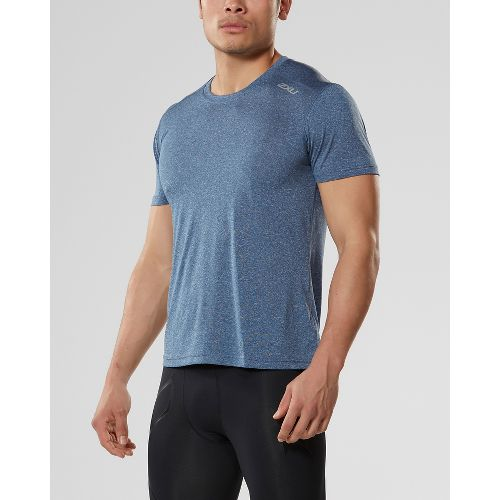 Mens 2XU ACTIVE Training Tee Short Sleeve Technical Tops - Navy Marle M