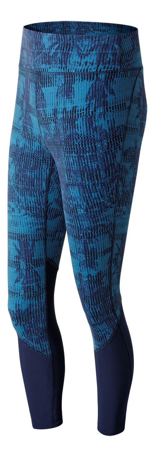 Womens New Balance Elixir Printed Crop Tights - Palm Escape L