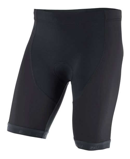 Mens 2XU ACTIVE Tri Cycling Shorts - Black/Black XXL