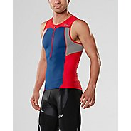Mens 2XU ACTIVE Tri Singlet Sleeveless & Tank Tops Technical Tops