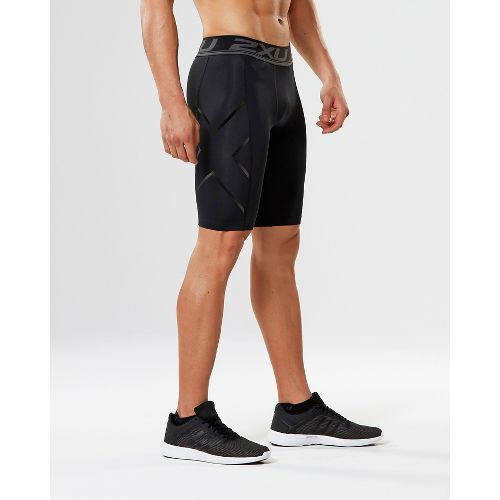 Mens 2XU Accelerate Compression & Fitted Shorts - Black/Nero S