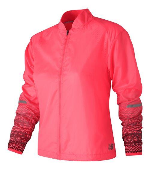 Womens New Balance Fun Run Running Jackets - Alpha Pink M