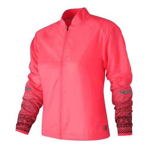 Womens New Balance Fun Run Running Jackets - Alpha Pink XL
