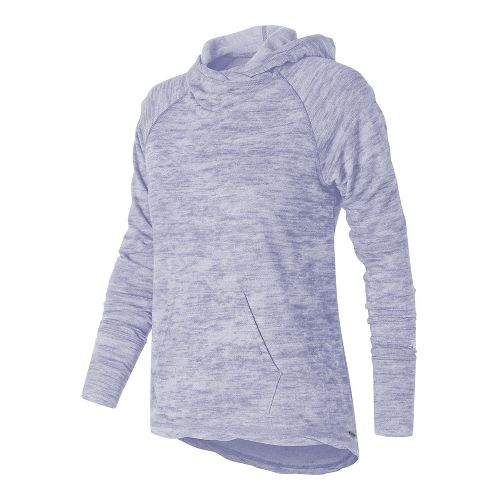 Womens New Balance Hatha Half-Zips & Hoodies Technical Tops - Deep Cosmic Sky M