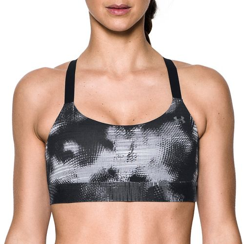 Womens Under Armour Eclipse Mid Printed Sports Bra - Black/Black M