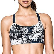 Womens Under Armour Eclipse Mid Printed Sports Bra - Midnight Navy S