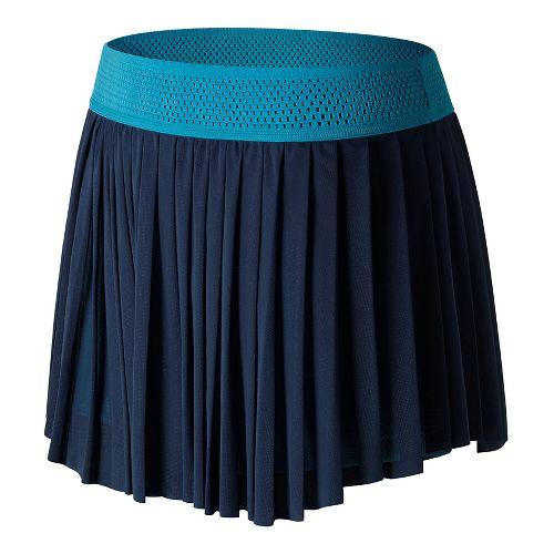 Womens New Balance Heath Skorts Fitness Skirts - Pigment/Blue L