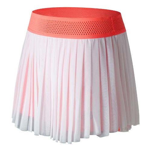 Womens New Balance Heath Skorts Fitness Skirts - White/Sunrise XS