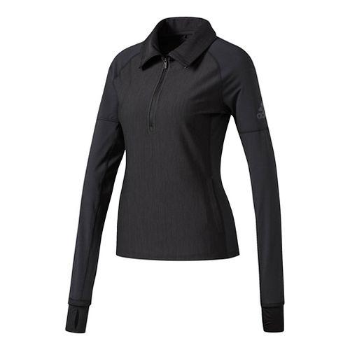 Womens Adidas Performer Baseline Quarter-Zip Jacket Half-Zips & Hoodies Technical Tops - Black M