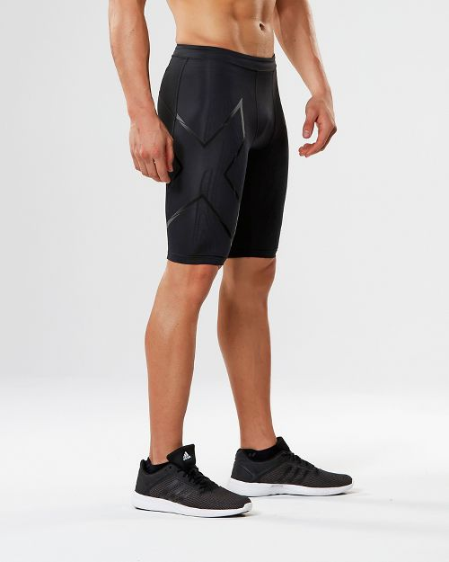 Mens 2XU Elite MCS G2 Compression & Fitted Shorts - Black/Nero M