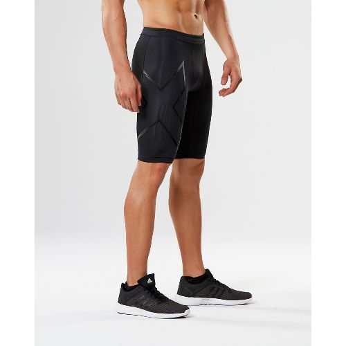 Mens 2XU Elite MCS G2 Compression & Fitted Shorts - Black/Nero L