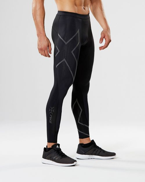 Mens 2XU Elite MCS G2 Compression Tights - Black/Nero L-T