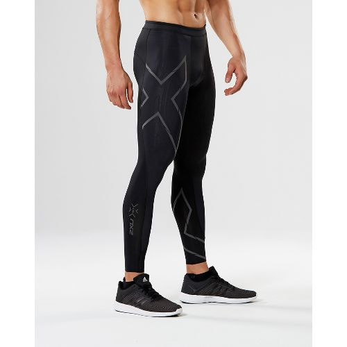 Mens 2XU Elite MCS G2 Compression Tights - Black/Nero L