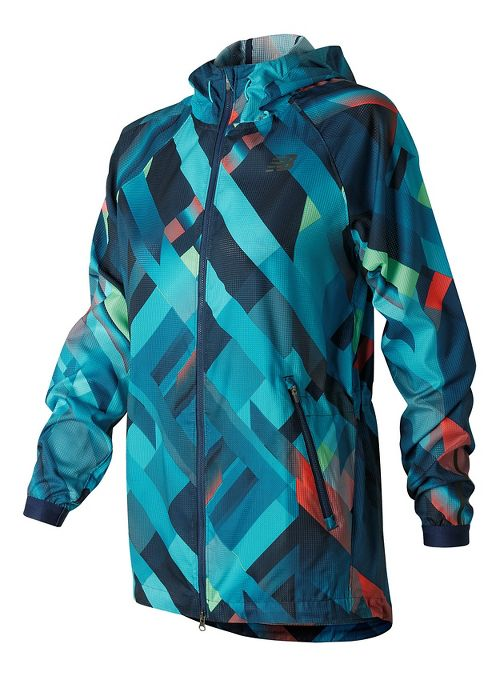Womens New Balance Hybrid Running Jackets - Gradient Plaid S