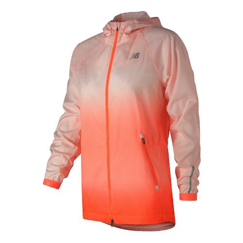 Womens New Balance Hybrid Running Jackets - Sunrise M