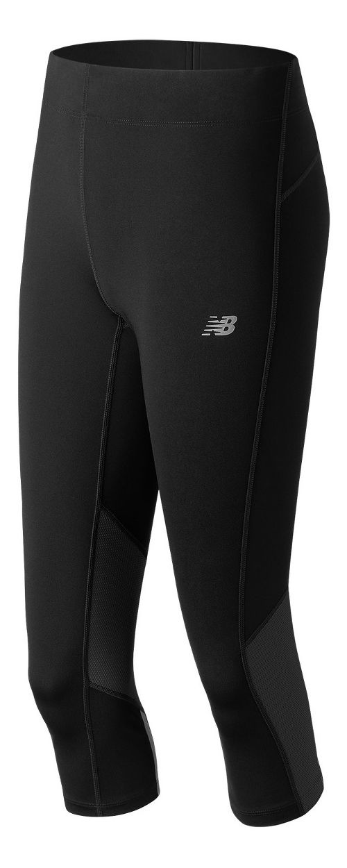 Womens New Balance Impact Capris Tights - Black L