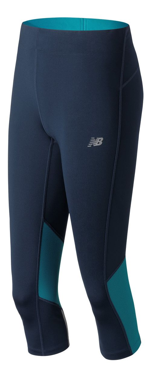 Womens New Balance Impact Capris Tights - Pigment L