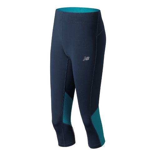 Womens New Balance Impact Capris Tights - Pigment XS