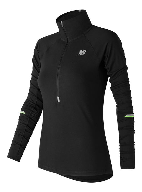 Womens New Balance Impact Half-Zips & Hoodies Technical Tops - Black XL