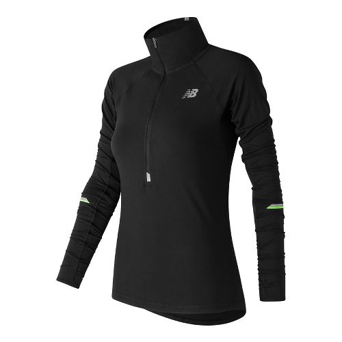 Womens New Balance Impact Half-Zips & Hoodies Technical Tops - Black M