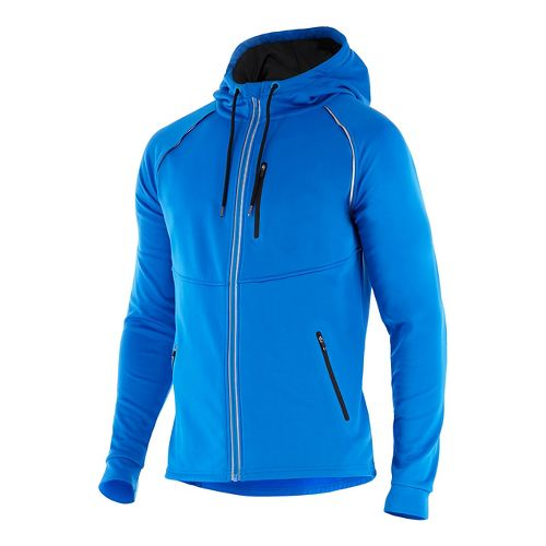 Mens 2XU X-CTRL Half-Zips & Hoodies Technical Tops - Blue/Black XXL